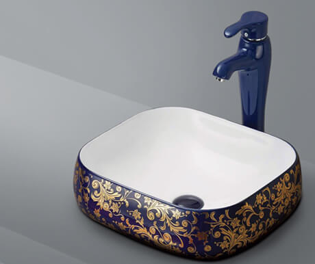Decorated Art Basin